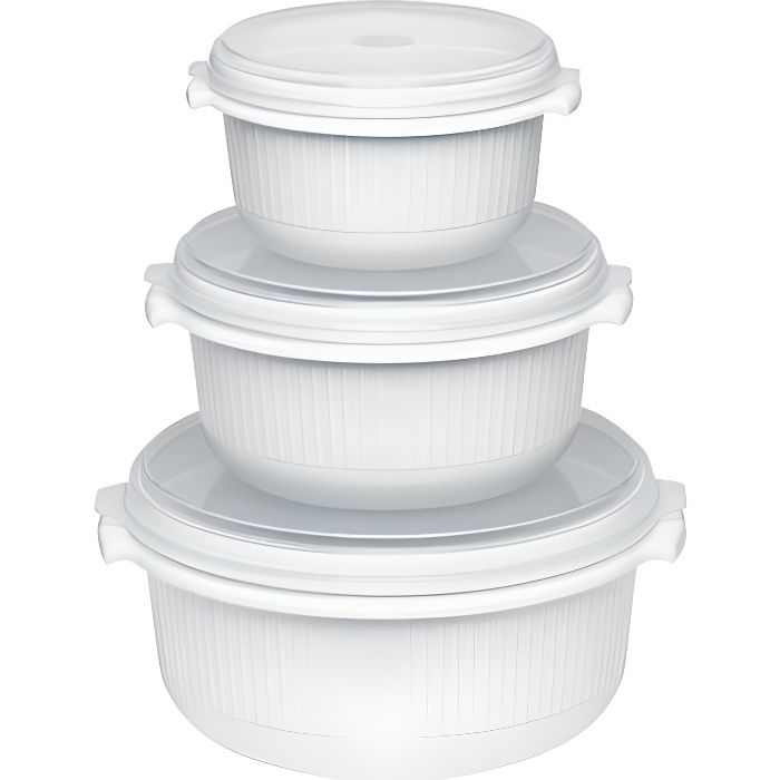 boite alimentaire ronde pour micro onde x3 achat vente boites de conservation boite. Black Bedroom Furniture Sets. Home Design Ideas