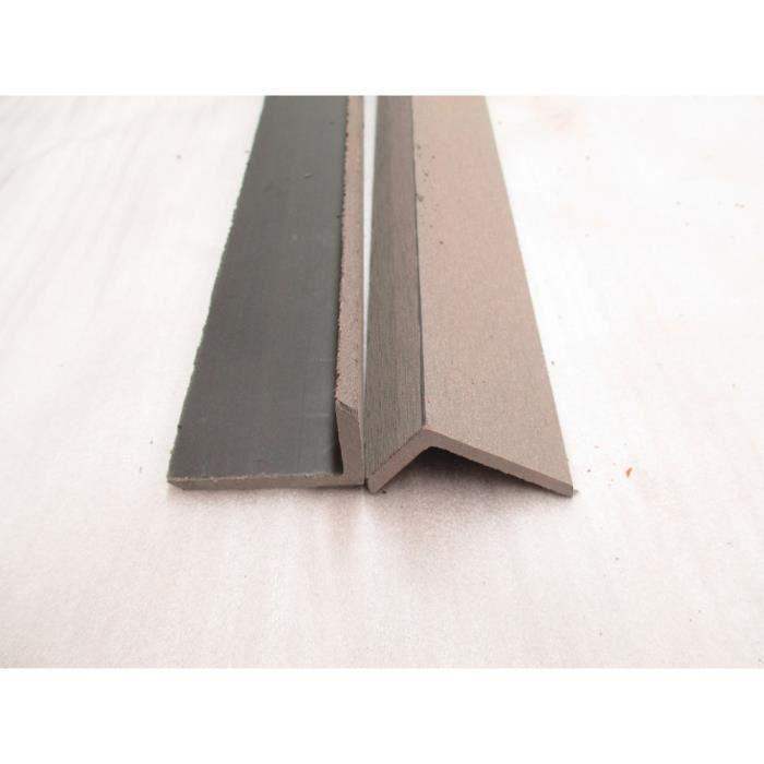Corni re pour lames de terrasse composite 40 x 60 cm gris achat vente - Lame composite grise ...