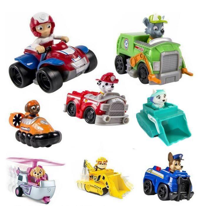 lot de 8 paw patrol jouets de v hicules set achat. Black Bedroom Furniture Sets. Home Design Ideas