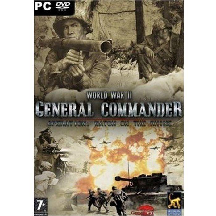 general commander seconde guerre mondiale pc achat vente jeu pc general commander