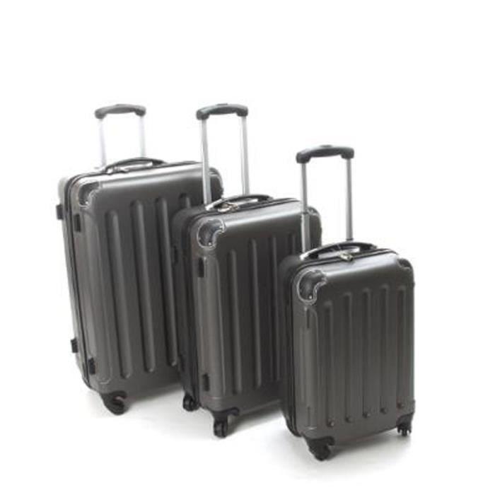 Paris prix set de 3 valises gris gris achat vente set de valises 200996 - Valise a prix discount ...