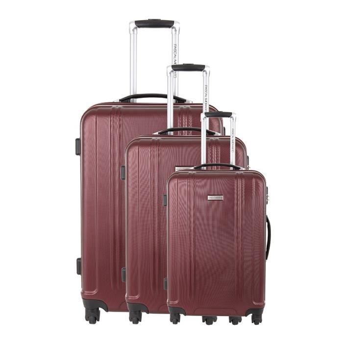 ensemble de 3 valises ambre bordeaux pascal morabito achat vente set de valises. Black Bedroom Furniture Sets. Home Design Ideas