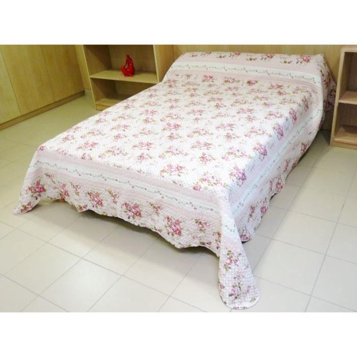 couvre lit boutis matelass cavaillon 260x250 cm achat. Black Bedroom Furniture Sets. Home Design Ideas