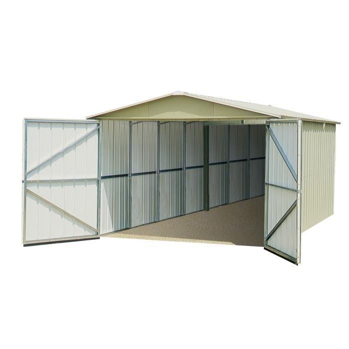 Yardmaster garage m tal 22 63m achat vente garage for Fermer carport en garage