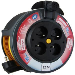 VOLTMAN Enrouleur ménager 12 m H05VVF 3G1,5