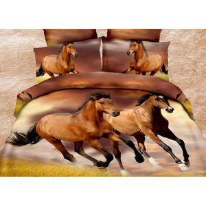 parure drap chevaux achat vente parure drap chevaux. Black Bedroom Furniture Sets. Home Design Ideas
