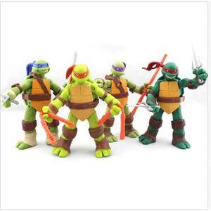 FIGURINE - PERSONNAGE 4 Pcs Teenage Mutant Ninja Turtles TMNT figurines