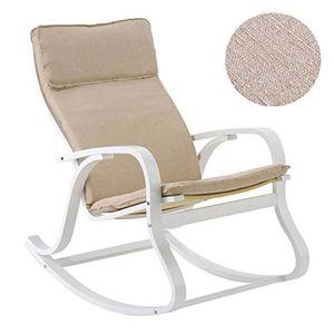 CHAISE Rocking-chair Howard en Lin ficelle, L65 x H101 x