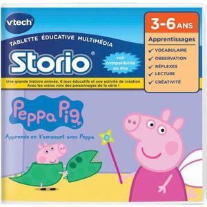 JEU CONSOLE EDUCATIVE VTECH Jeu Storio - Peppa Pig