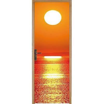 sticker pour porte couch de soleil 83x204cm r achat vente stickers cdiscount. Black Bedroom Furniture Sets. Home Design Ideas