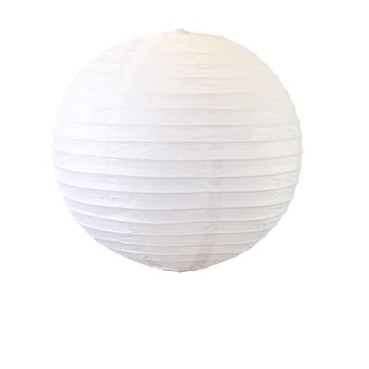 D co pour mariage f te boule papier 30cm blanc lot de 5 for Boule de papier deco