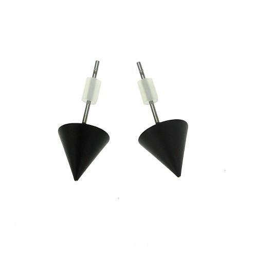 boucles d 39 oreilles pointe noire et strass achat vente boucle d 39 oreille boucles d 39 oreilles. Black Bedroom Furniture Sets. Home Design Ideas