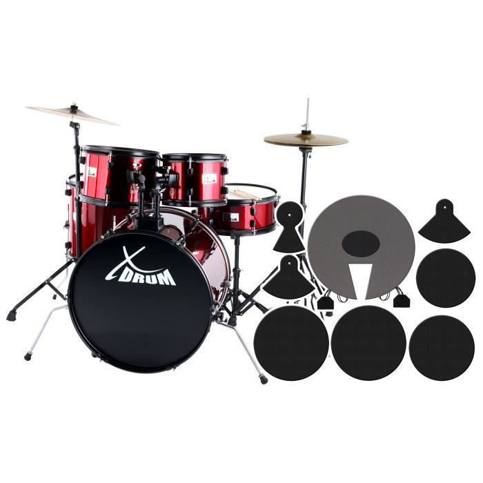 xdrum rookie 22 39 39 fusion batterie ruby red plus pas. Black Bedroom Furniture Sets. Home Design Ideas