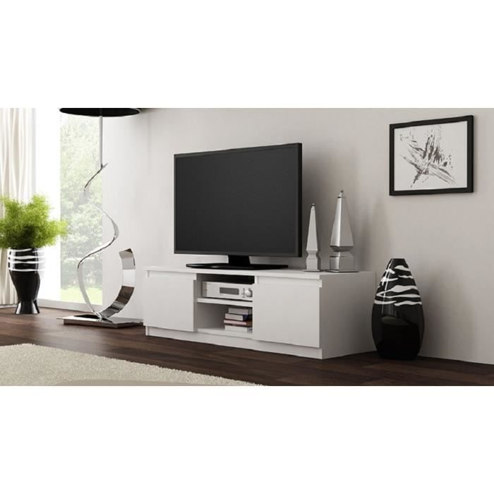 meuble tv clino blanc mat achat vente meuble tv meuble tv clino blanc mat cdiscount. Black Bedroom Furniture Sets. Home Design Ideas