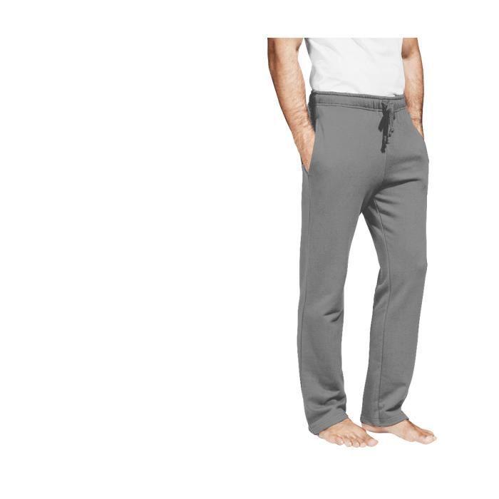 pantalon jogging homme coton gris fonc m lange gris gris fonc m lange achat vente. Black Bedroom Furniture Sets. Home Design Ideas