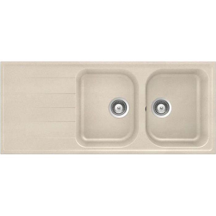 evier granit beige achat vente evier granit beige pas cher les soldes sur cdiscount. Black Bedroom Furniture Sets. Home Design Ideas