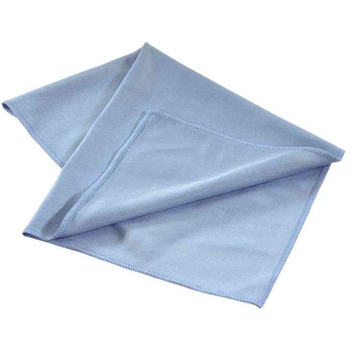 chiffon de nettoyage en microfibre lavable bleu achat vente eponge chiffon chiffon de. Black Bedroom Furniture Sets. Home Design Ideas