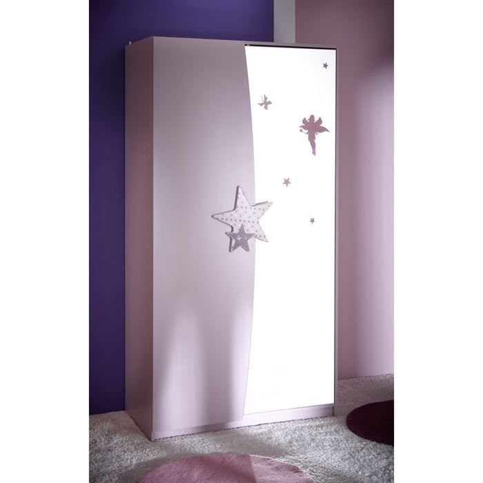 Fairy armoire 2 portes miroir achat vente armoire de - Armoire 2 portes miroir ...