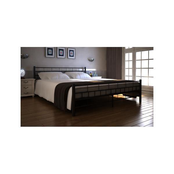 Lit m tal 140 x 200 cm avec matelas achat vente structure de lit cdiscount - Ikea matelas 140 x 200 ...