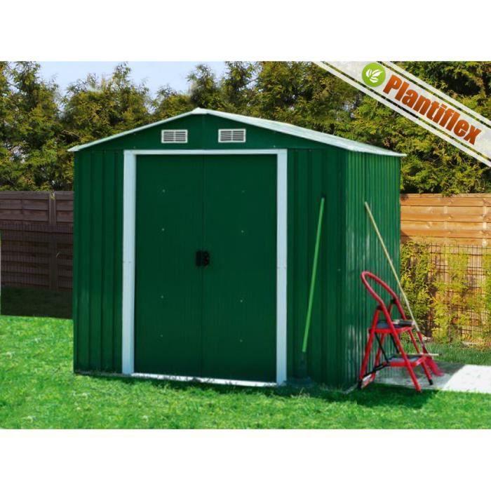 Abri de jardin en m tal 260x205x185 vert achat vente abri jardin chalet abri de jardin en - Abri jardin vert orleans ...