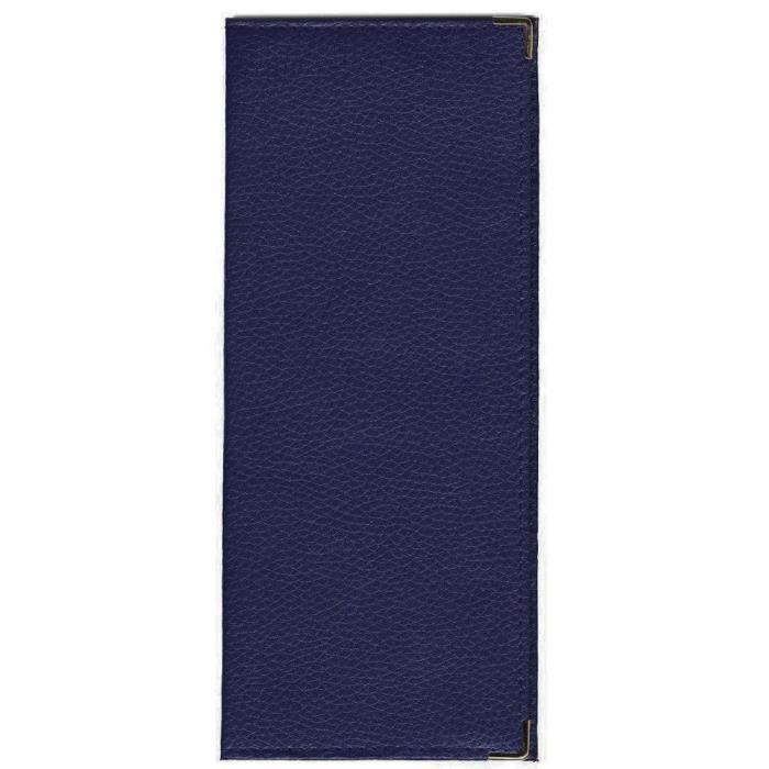 porte ch quier longue porte carte pi ce d 39 identit en cuir paddy bleu tu achat vente. Black Bedroom Furniture Sets. Home Design Ideas