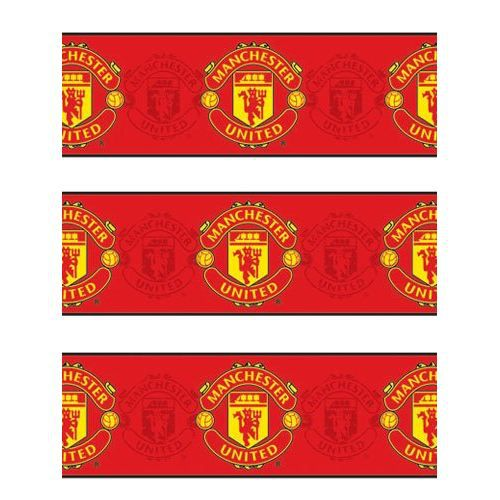 Frise murale football manchester united 13 cm x achat for Frise murale a peindre