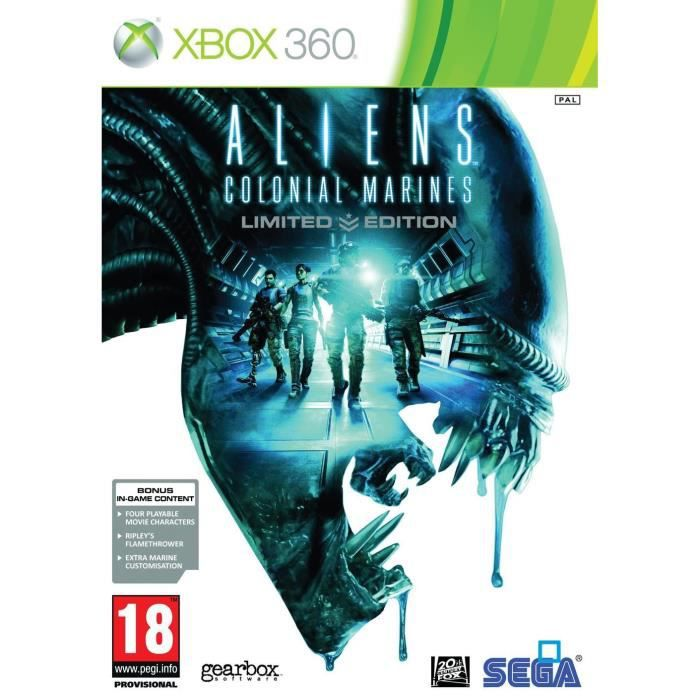 JEUX XBOX 360 ALIENS : COLONIAL MARINES - EDITION LIMITEE