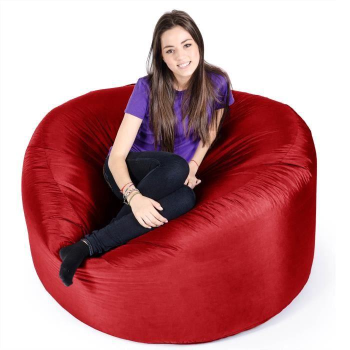 pouf g ant jumbo rouge achat vente pouf poire. Black Bedroom Furniture Sets. Home Design Ideas