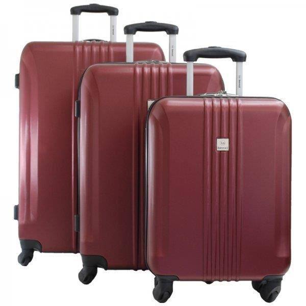 set de 3 valises rigides de la marque benzi achat. Black Bedroom Furniture Sets. Home Design Ideas