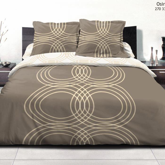 parure de lit 4 pi ces 2 personnes osiris ocre achat vente parure de lit cdiscount. Black Bedroom Furniture Sets. Home Design Ideas