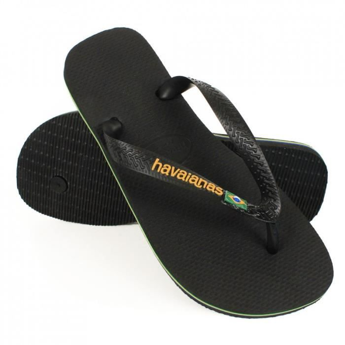 tong havaianas brasil logo noir noir noir achat vente tong cdiscount. Black Bedroom Furniture Sets. Home Design Ideas