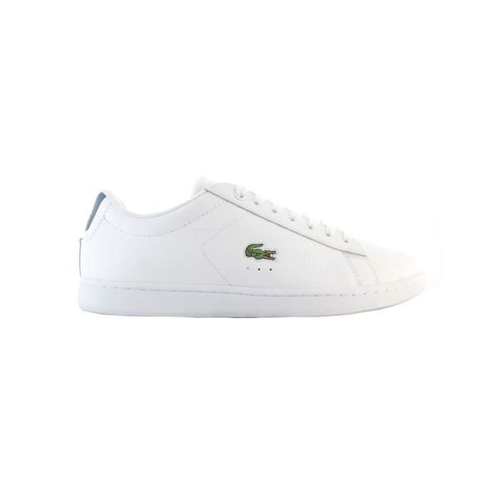 Basket lacoste femme carnaby evo cuir blanc blanc achat - Lacoste carnaby evo cls baskets en cuir perfore ...