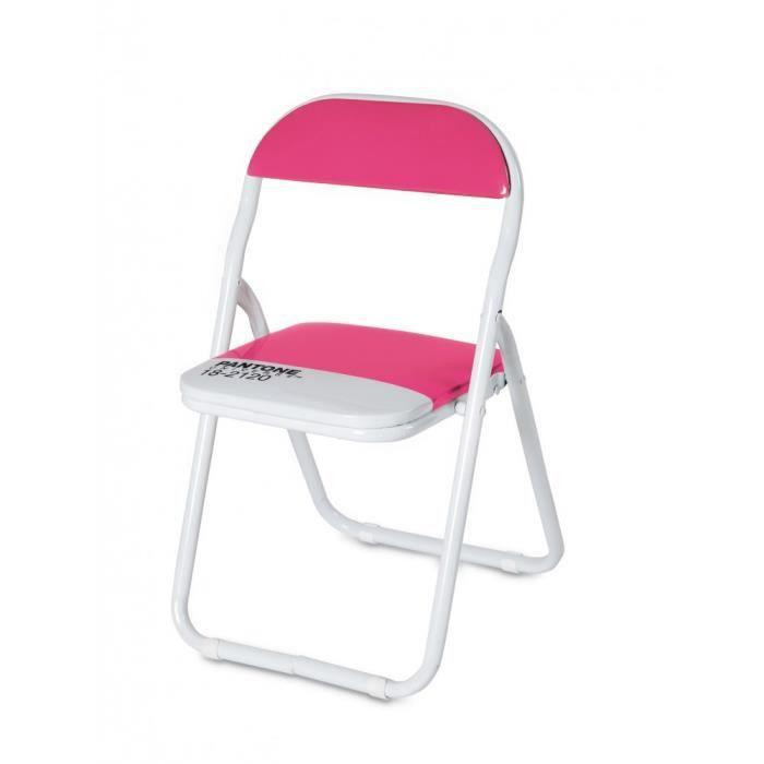 Chaise enfant pliable pantone rose 16975 pantone achat - Chaise enfant pliable ...