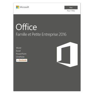 LOGICIEL BUREAUTIQUE  Microsoft Office Mac Famille et petite entreprise