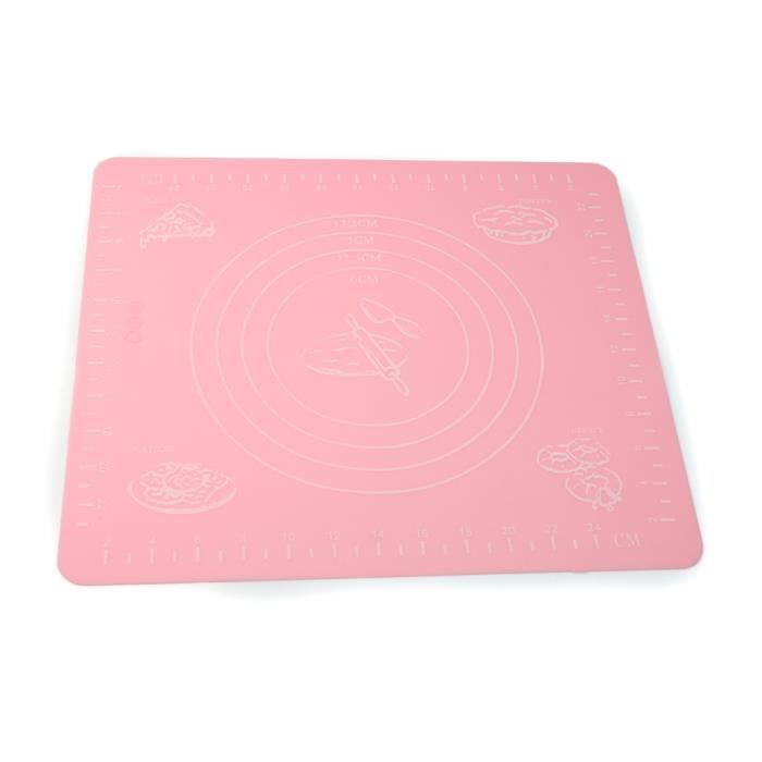 tapis feuille silicone couleur rose r utilisable cuisine cuisson p tisserie p te moule g teau. Black Bedroom Furniture Sets. Home Design Ideas
