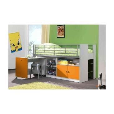lit enfant multifonctions savane 2 orange achat vente structure de lit lit enfant. Black Bedroom Furniture Sets. Home Design Ideas