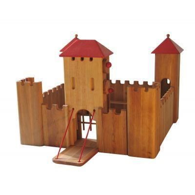 jouet en bois chateau fort 63x63x48 e achat vente univers miniature cdiscount. Black Bedroom Furniture Sets. Home Design Ideas