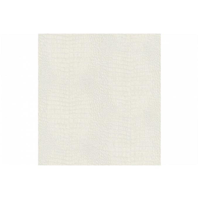 Papier peint blanc nacr croco achat vente papier - Peinture blanc nacre ...