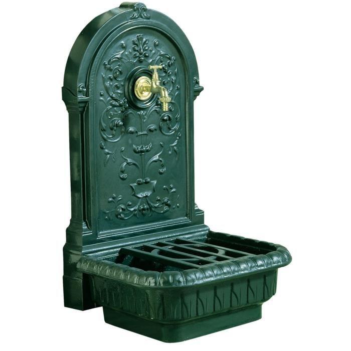 renaissance fontaine en fonte verte achat vente. Black Bedroom Furniture Sets. Home Design Ideas