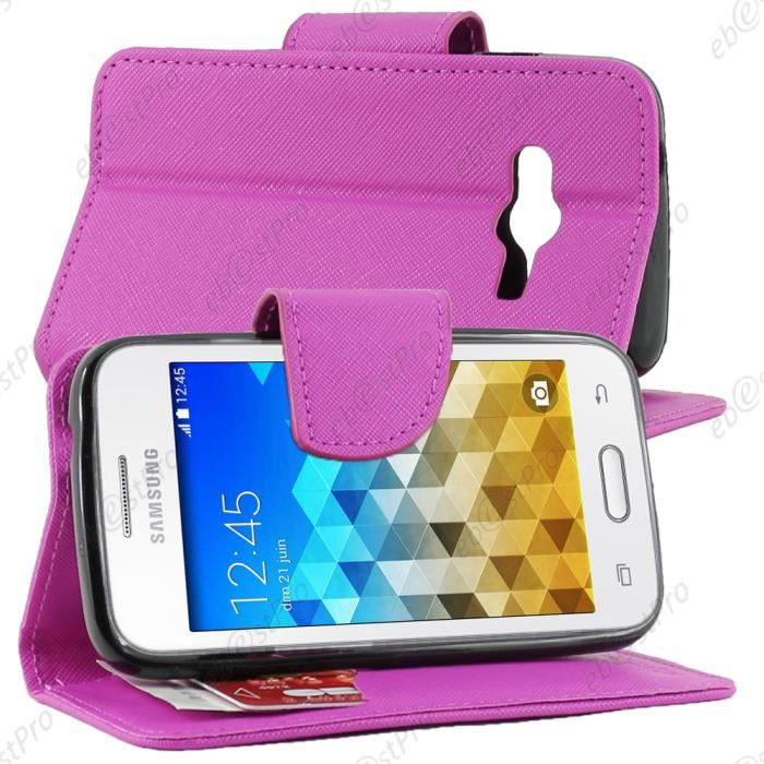 Etui portefeuille housse protection book livre samsung - Protection galaxy trend lite ...