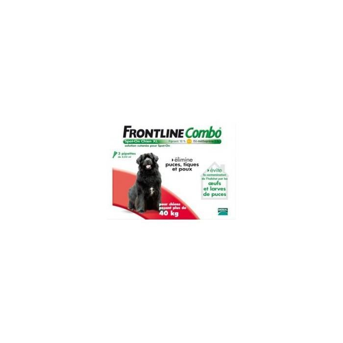 Frontline combo chiens 40 60 kg g ant 6 pipettes - Frontline combo chien pas cher ...