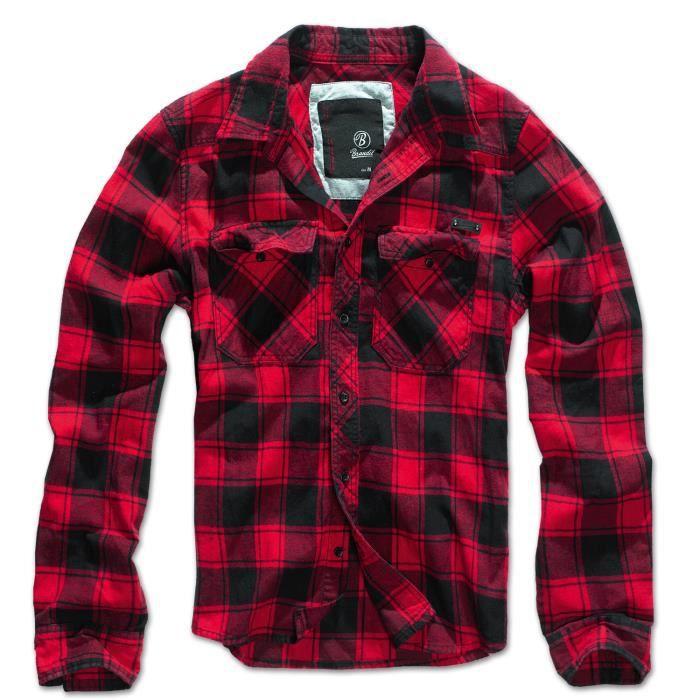 chemise brandit check shirt flanelle a carreaux noir achat vente chemise chemisette. Black Bedroom Furniture Sets. Home Design Ideas