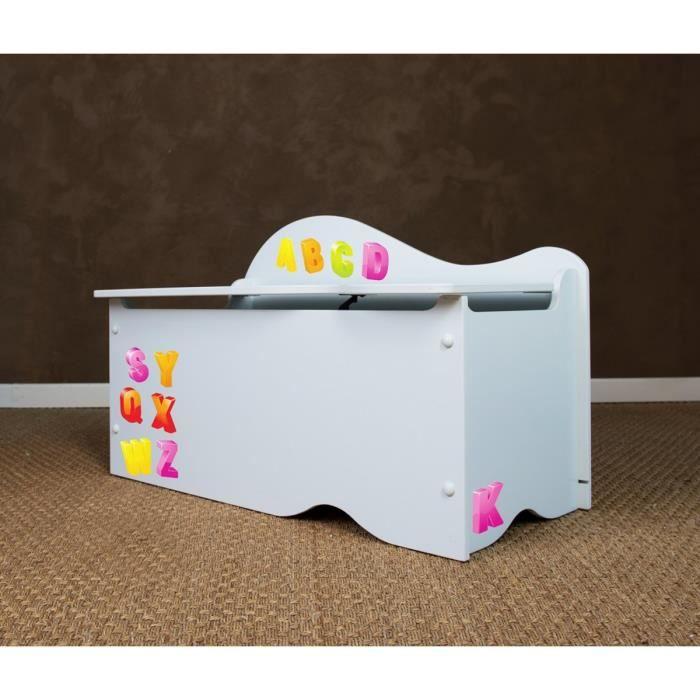 coffre de rangement stickers chiffres et lettres achat. Black Bedroom Furniture Sets. Home Design Ideas