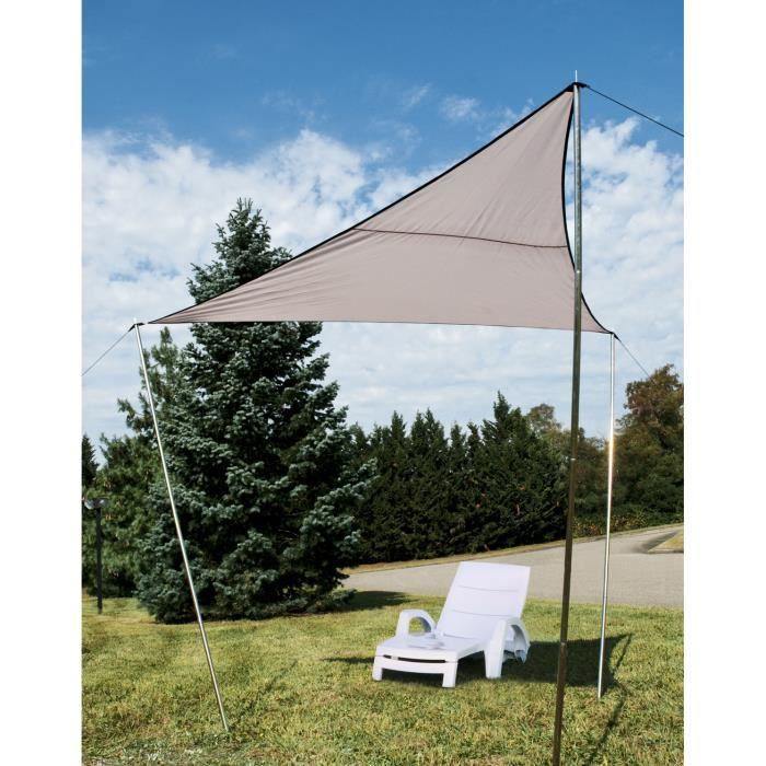 Voile d 39 ombrage triangulaire 300 cm par 300 cm achat - Toile de jardin triangulaire ...