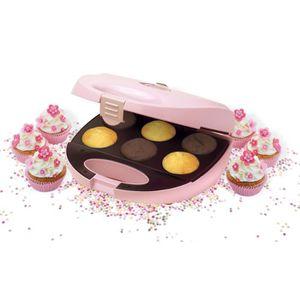 BESTRON DCM8162 Appareil ? cupcakes - Jusqu'? 6 en m?me temps - Rose Pastel