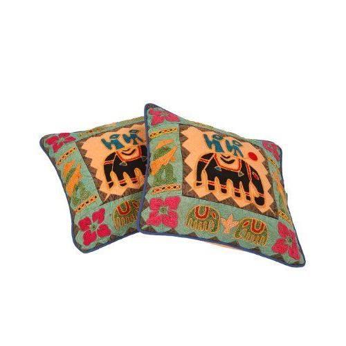 Patchwork elephant conception de broderie housse de - Housse de coussin patchwork ...