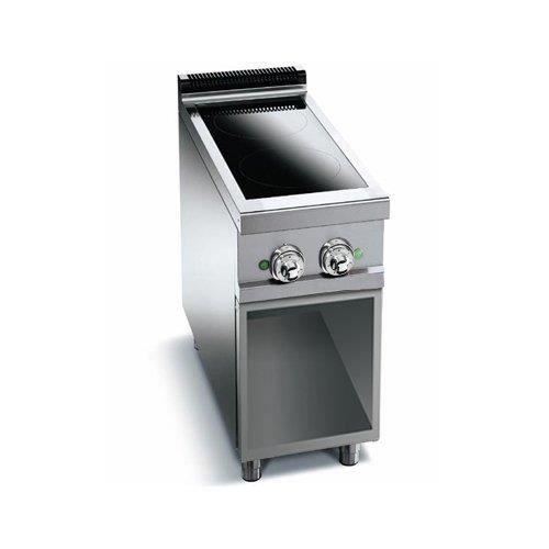 cuisini 200 re 192 infrarouge professionnelle sur pieds 100 acier inox 8000w courant fort 400v