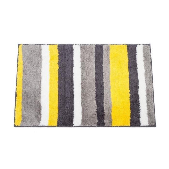 sunvp home tapis de bain de douche en polyester imperm able 86 x 53 cm pour salle de bain. Black Bedroom Furniture Sets. Home Design Ideas