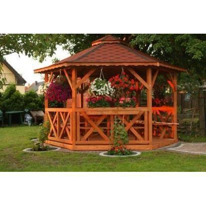 Pavillon De Jardin En Bois De Pin S Ch 4m Achat