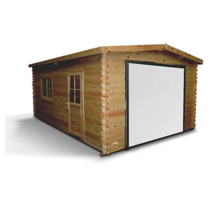 Garage bois brut emboit 22 34m achat vente garage garage bois hg 19 79m - Garage bois discount ...